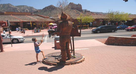 Uptown Sedona shopping area